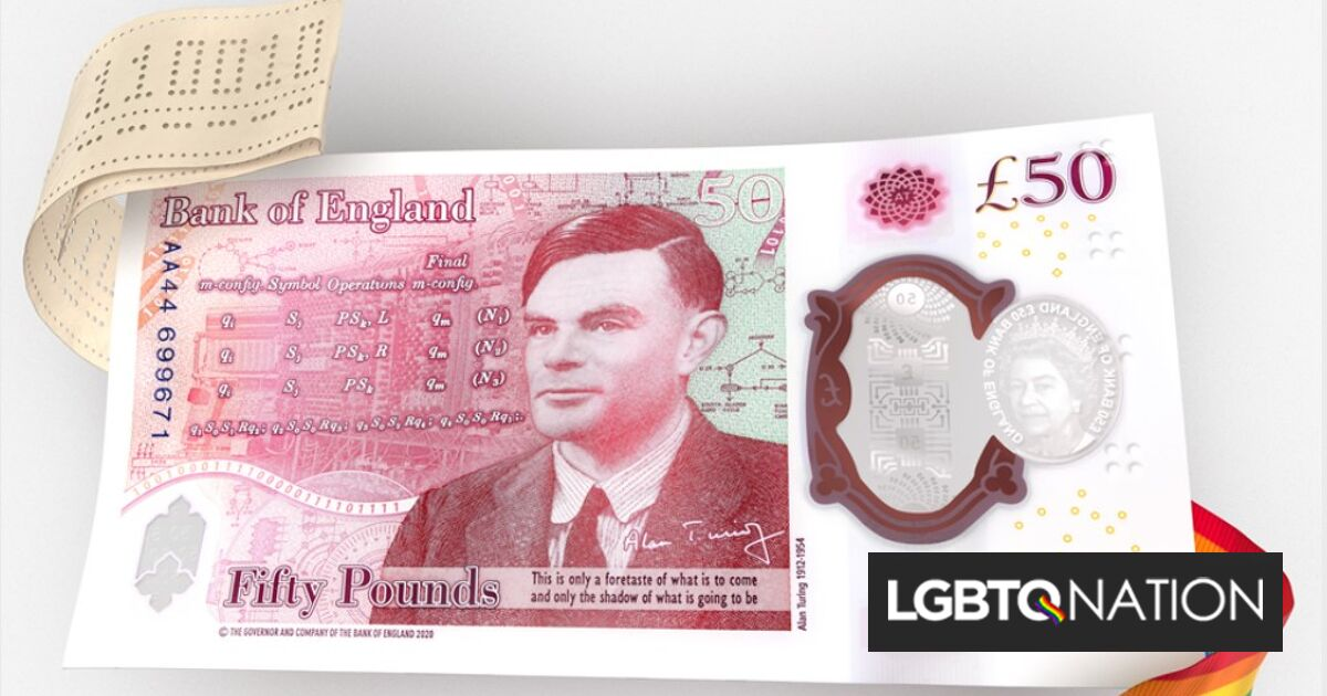 WWII hero Alan Turing becomes the first gay man on a British banknote