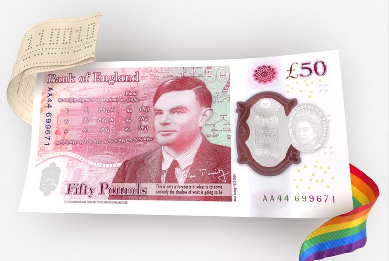 The new Alan Turing 50-pound bill.