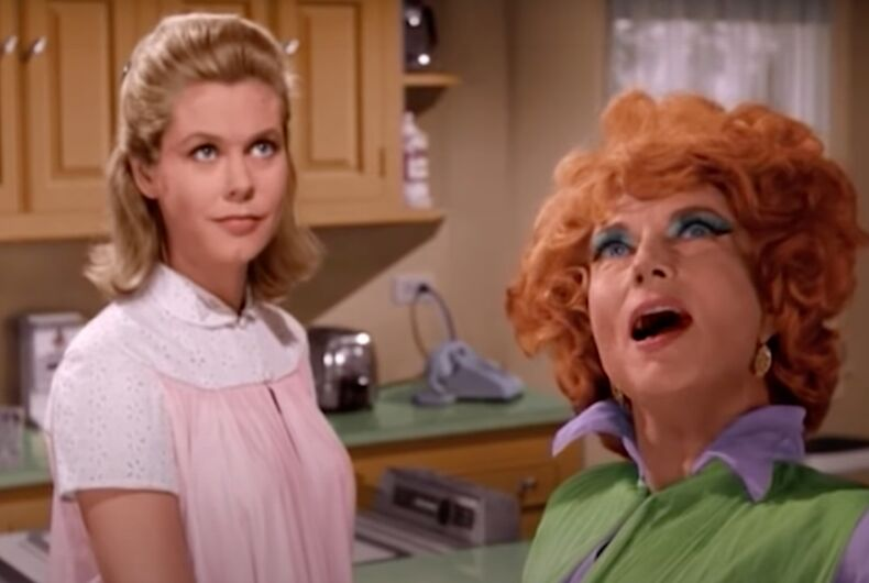 Elizabeth Montgomery and Agnes Moorehead starred in