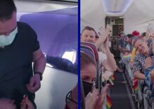 Man proposes to his boyfriend 40,000 feet in the air. The other passengers loved it.