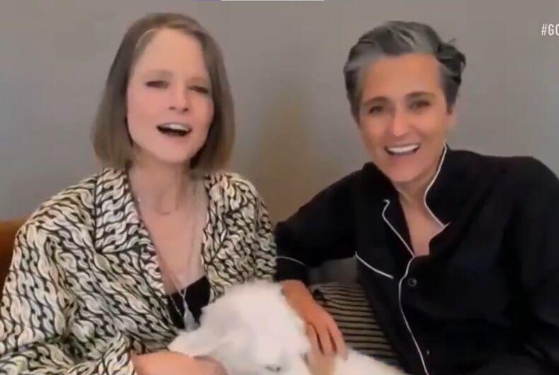 Jodie Foster and Alexandra Hadison