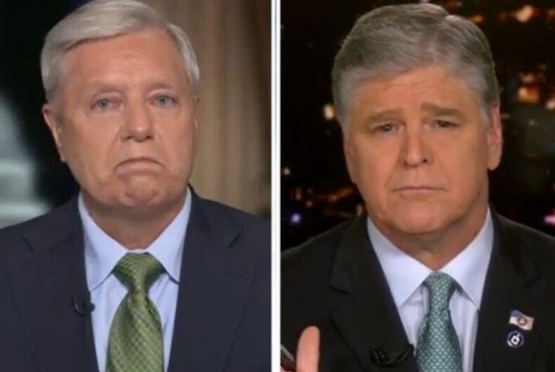 Lindsey Graham and Sean Hannity