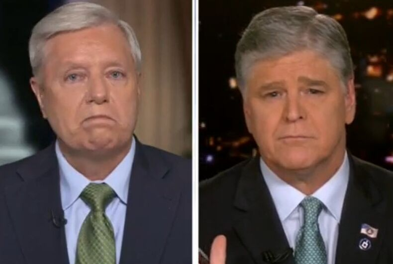 Lindsey Graham and Sean Hannity