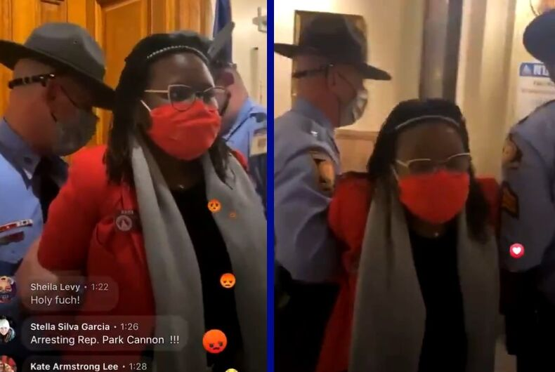 Georgia Rep. Park Cannon (D) was arrested after knocking on the governor's door