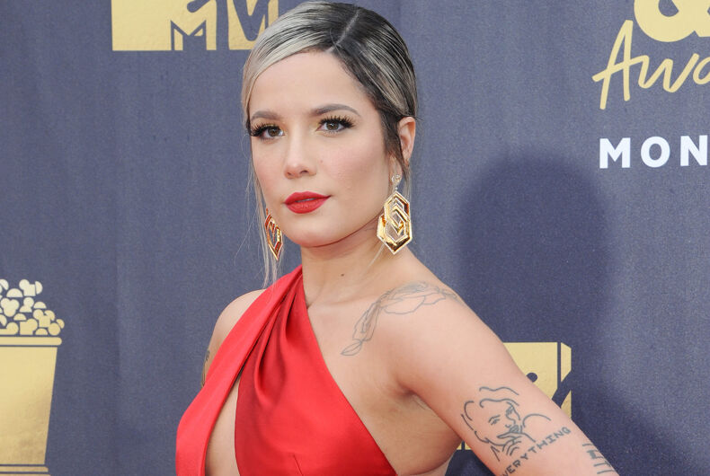 Halsey at the 2018 MTV Movie And TV Awards held at the Barker Hangar in Santa Monica, California on June 16, 2018.