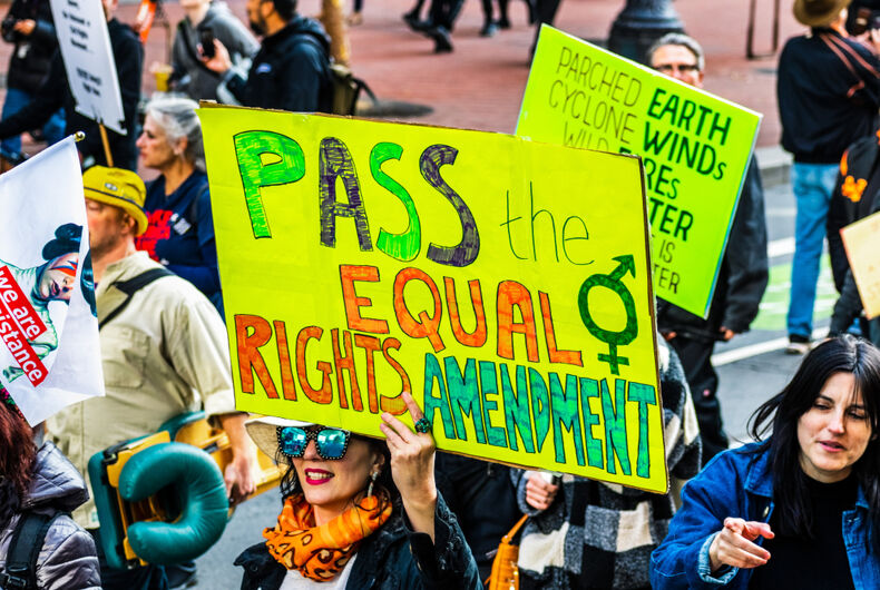 Jan 18, 2020 San Francisco protest for the ERA