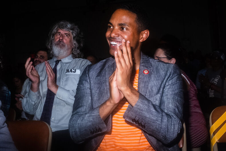 Ritchie Torres, at an event for activist Ady Barkan in Parkchester, the Bronx on August 7, 2018.