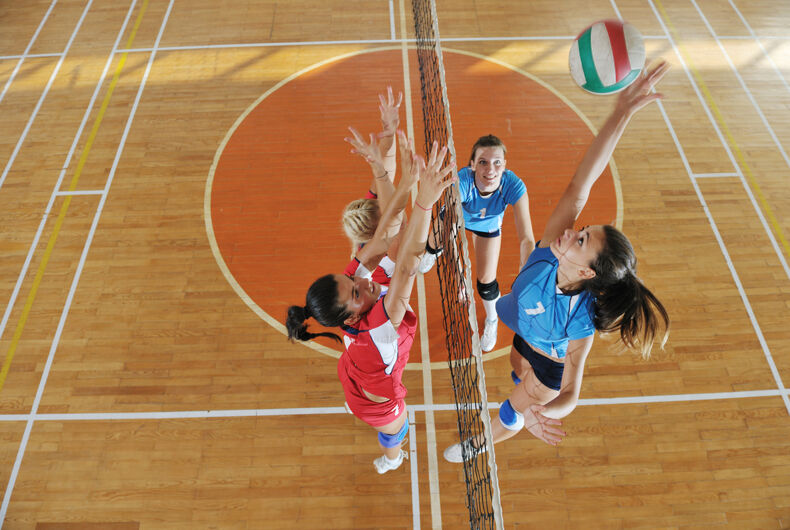 Girls volleyball competition