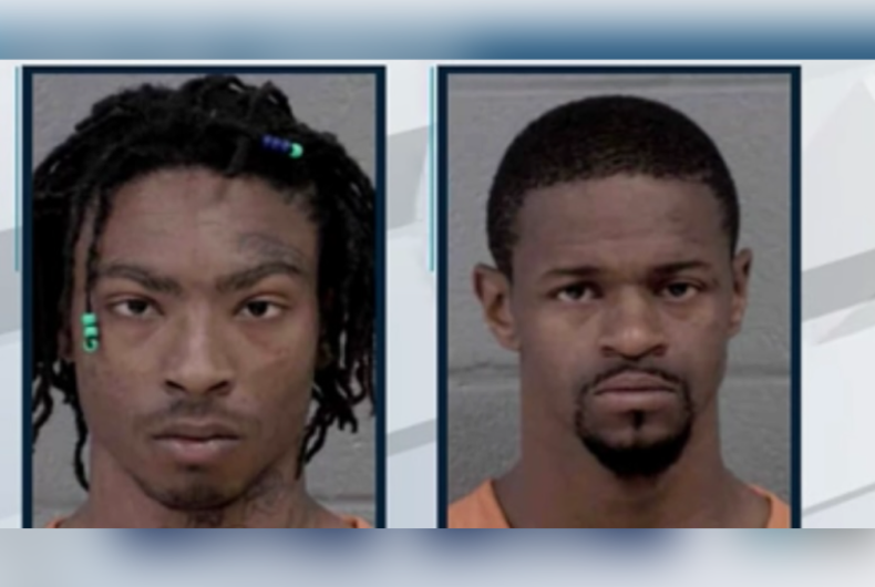 Mugshots of Dontarius Long (left) and Joel Brewer (right)