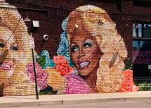 Dolly Parton & RuPaul are together again… in a Southern hair salon's mural