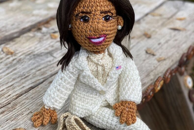 Allison Hoffman's Kamala Harris Amigurumi doll