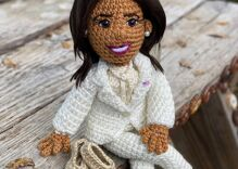 Crafty Kamala Harris is the new star of the crochet community