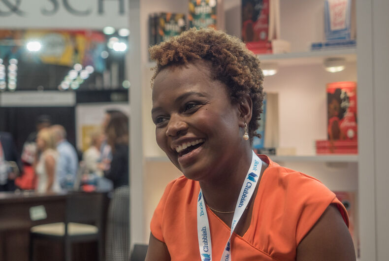 Karine Jean-Pierre at BookExpo at the Javits Center in New York City, May 2019.