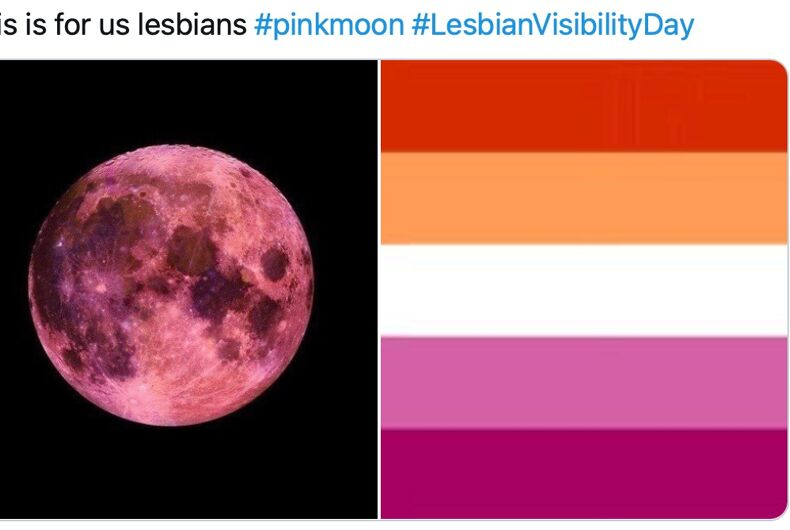 """A """"super pink"""" moon will shine in the sky tonight & it doesn't get more visibly lesbian than that"""