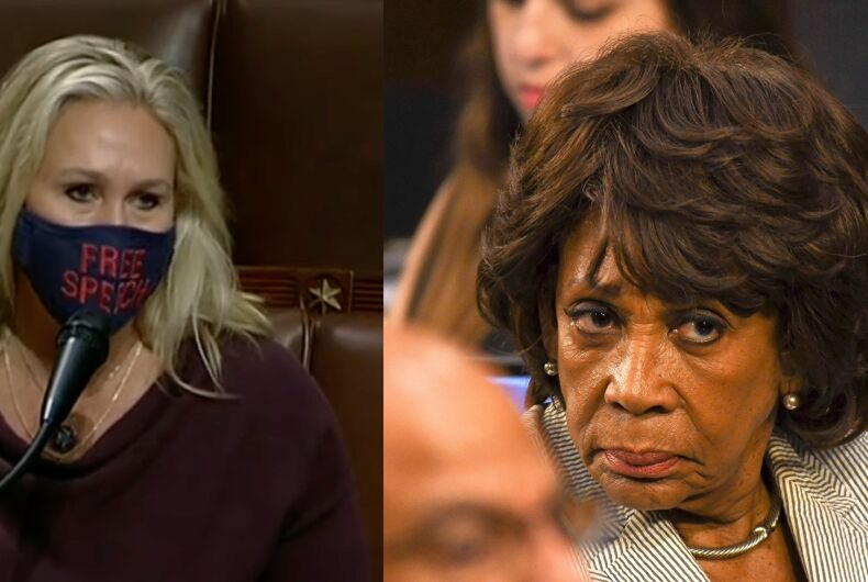 Reps. Marjorie Taylor Greene (R-FL) and Maxine Waters (D-CA)