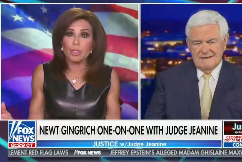 Jeanine Pirro and Newt Gingrich