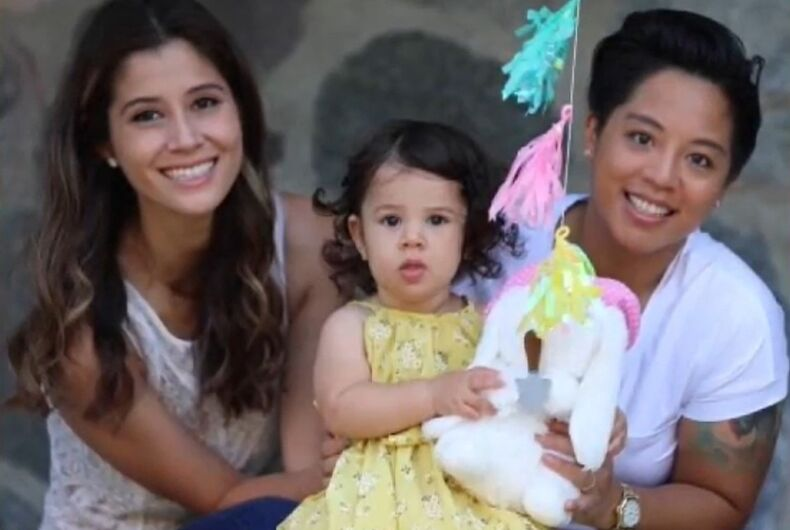 Tatiana Arena-Villareal and her wife and child.