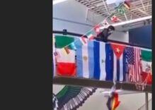 Utah high school students cackle & cheer as classmate tears down Pride flag in viral video