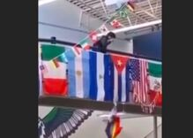 Utah high school students cackle & cheer as classmate tears down Pride flag in viral video