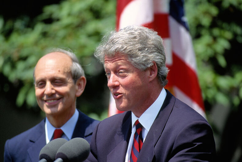 Washington DC., USA, 13th May,1994 President William Jefferson Clinton introduces Stephen Breyer as his choice for the next appointment to the United States Supreme Court