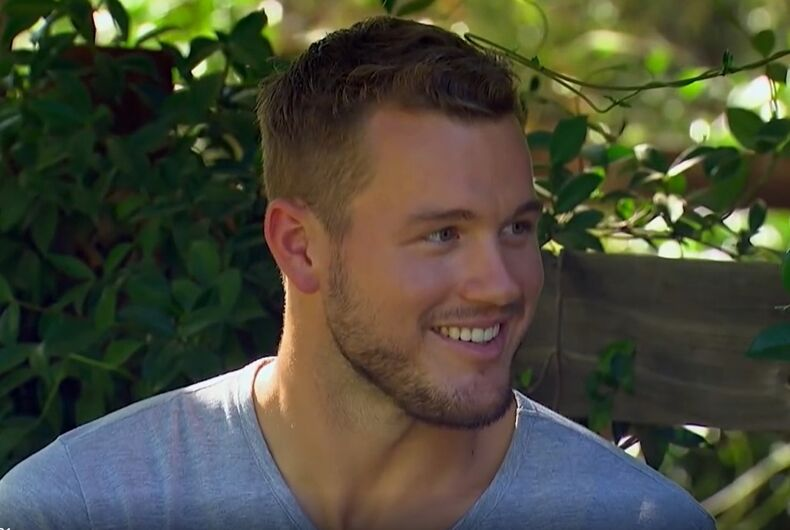 Closeted Colton Underwood as Billy Eichner jokes that he's gay