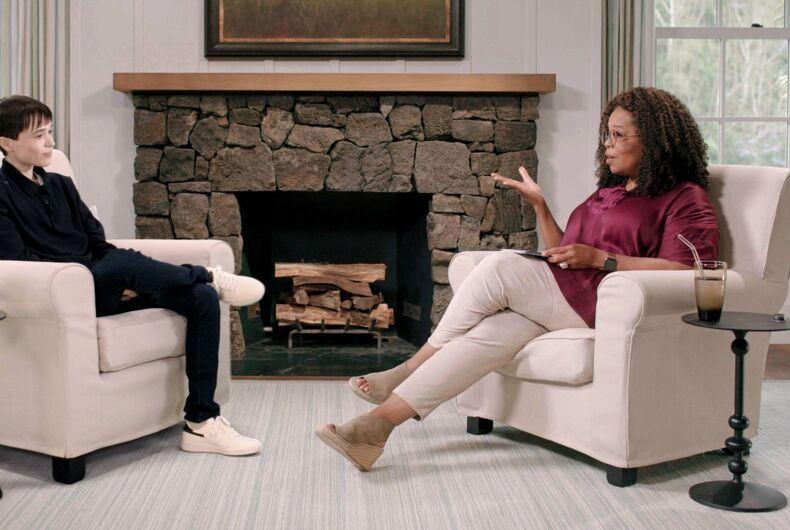 Oprah Winfrey sits down with Elliot Page