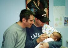 Gay couple that adopted a baby they found in the subway tells their heartwarming story