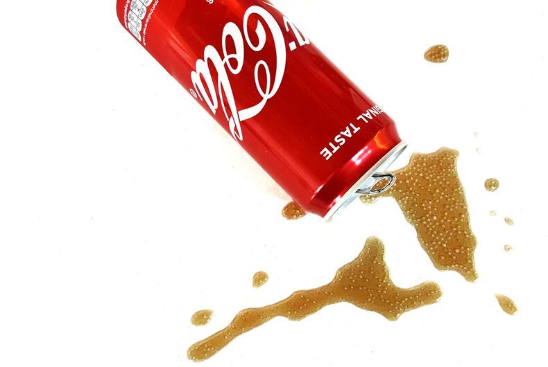 spilled coke