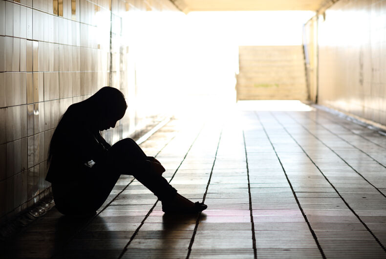 a sad teen