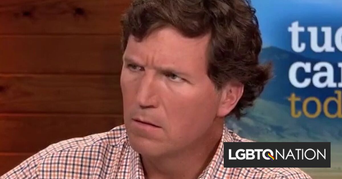 """Tucker Carlson works himself into a rage because he doesn't know what """"bisexual"""" means"""