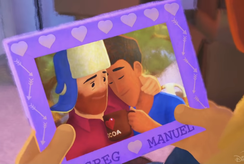 Greg and Manuel, the couple featured in the animated short film