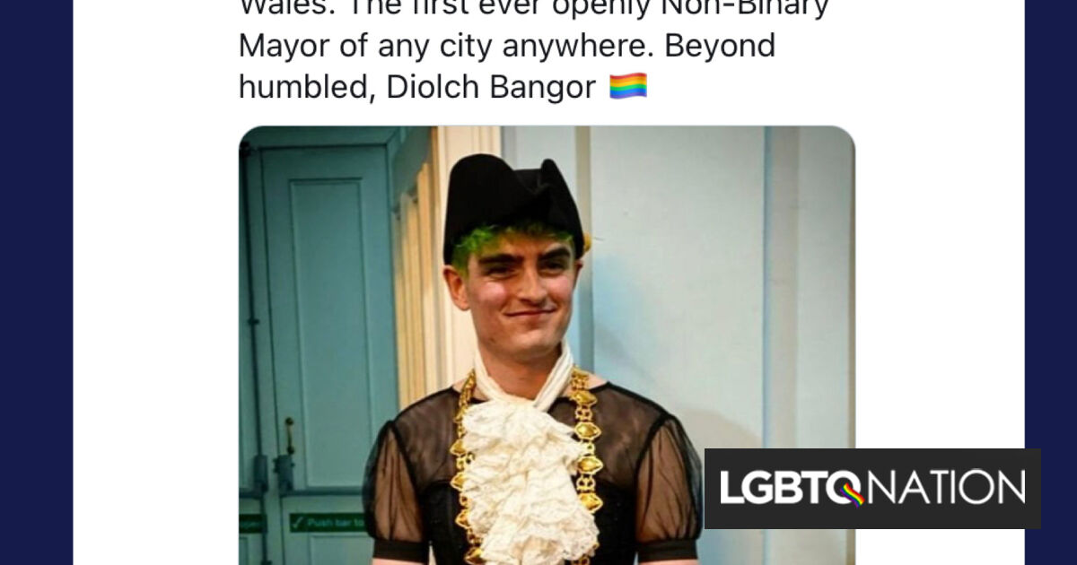 Recent college grad becomes world's first elected non-binary mayor