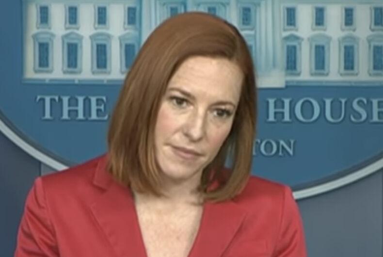 Press Secretary Jen Psaki taking questions on May 7, 2021