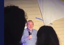 Jerry Falwell Jr. is caught on-camera inviting Liberty University students back to his home