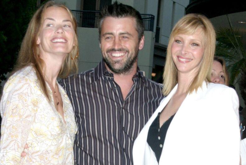 Matt LeBlanc (center) and Lisa Kudrow (left) played Joey and Phoebe on