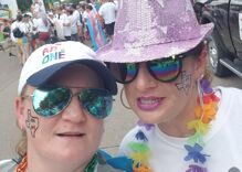 Pride in Pictures: Marching with my girlfriend who is now my wife