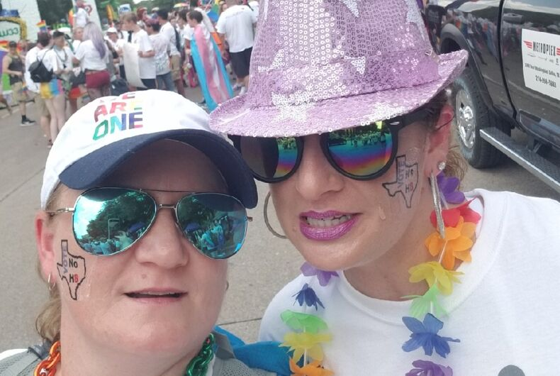 Pride in Pictures, Marching with my girlfriend turned wife
