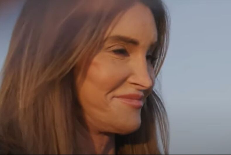 Caitlyn Jenner, looking gubernatorial for her first campaign ad