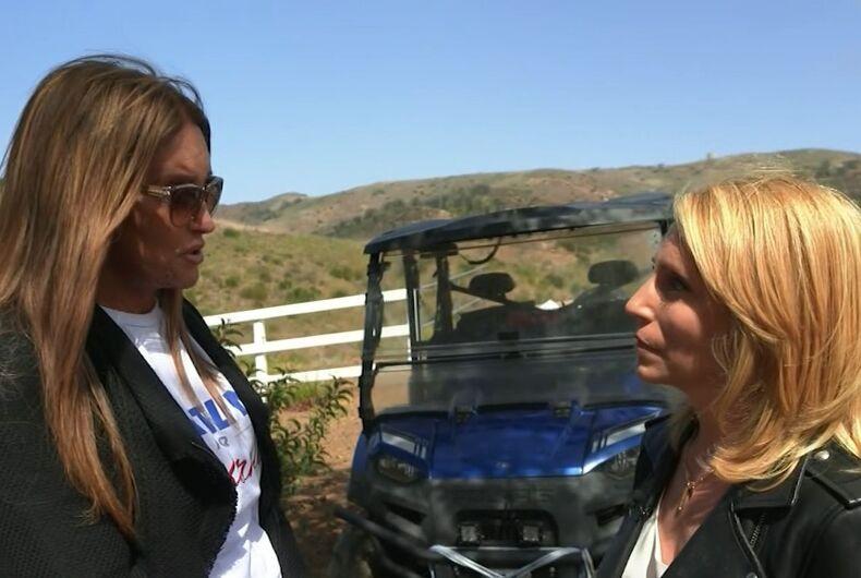 Caitlyn Jenner talking to CNN's Dana Bash