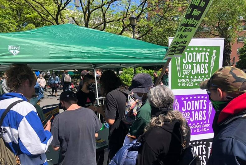 ACT UP New York gives out free joints in exchange for proof residents have been vaccinated against COVID-19
