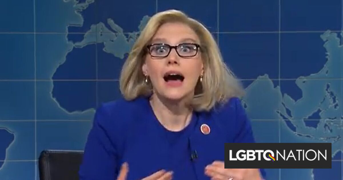 Kate McKinnon skewers Liz Cheney for betraying her lesbian sister & then getting betrayed herself