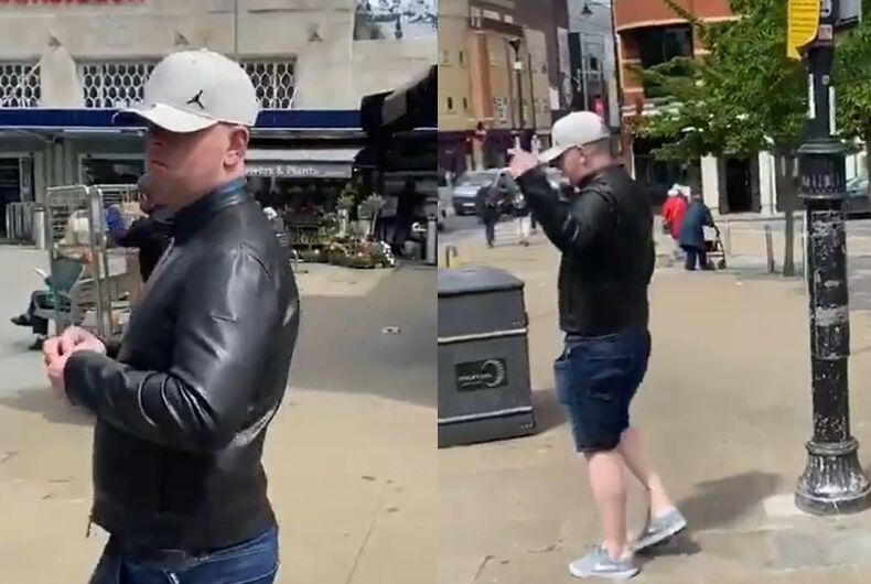 The man caught spitting at the gay couple