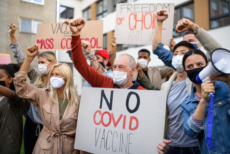 Anti-vaccine protestors