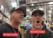 Enraged man kicked out of Costco after shoppers refused to join his anti-mask revolution