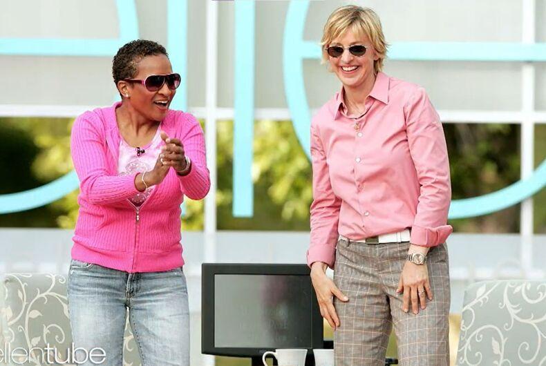 Wanda Sykes and Ellen DeGeneres