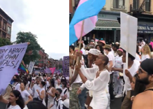 Hundreds marched in support trans youth & people of color in Brooklyn
