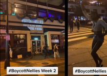 A block party protest is held outside of gay bar where Black woman was dragged by hair