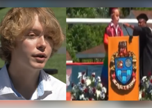 A principal frantically tried cutting off a queer student's graduation speech. It didn't work.