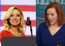 """Kayleigh McEnany rages over the """"fawning"""" media coverage she thinks Jen Psaki is getting"""