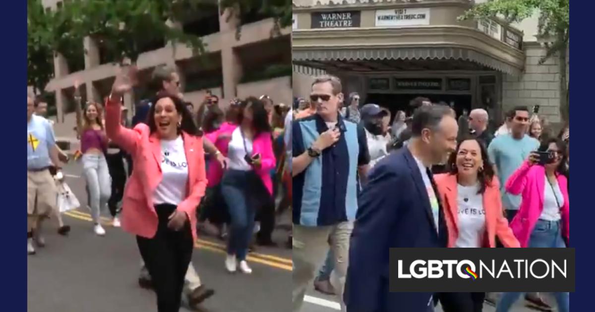 VP Kamala Harris & Doug Emhoff make a historic stop at Capital Pride in D.C.